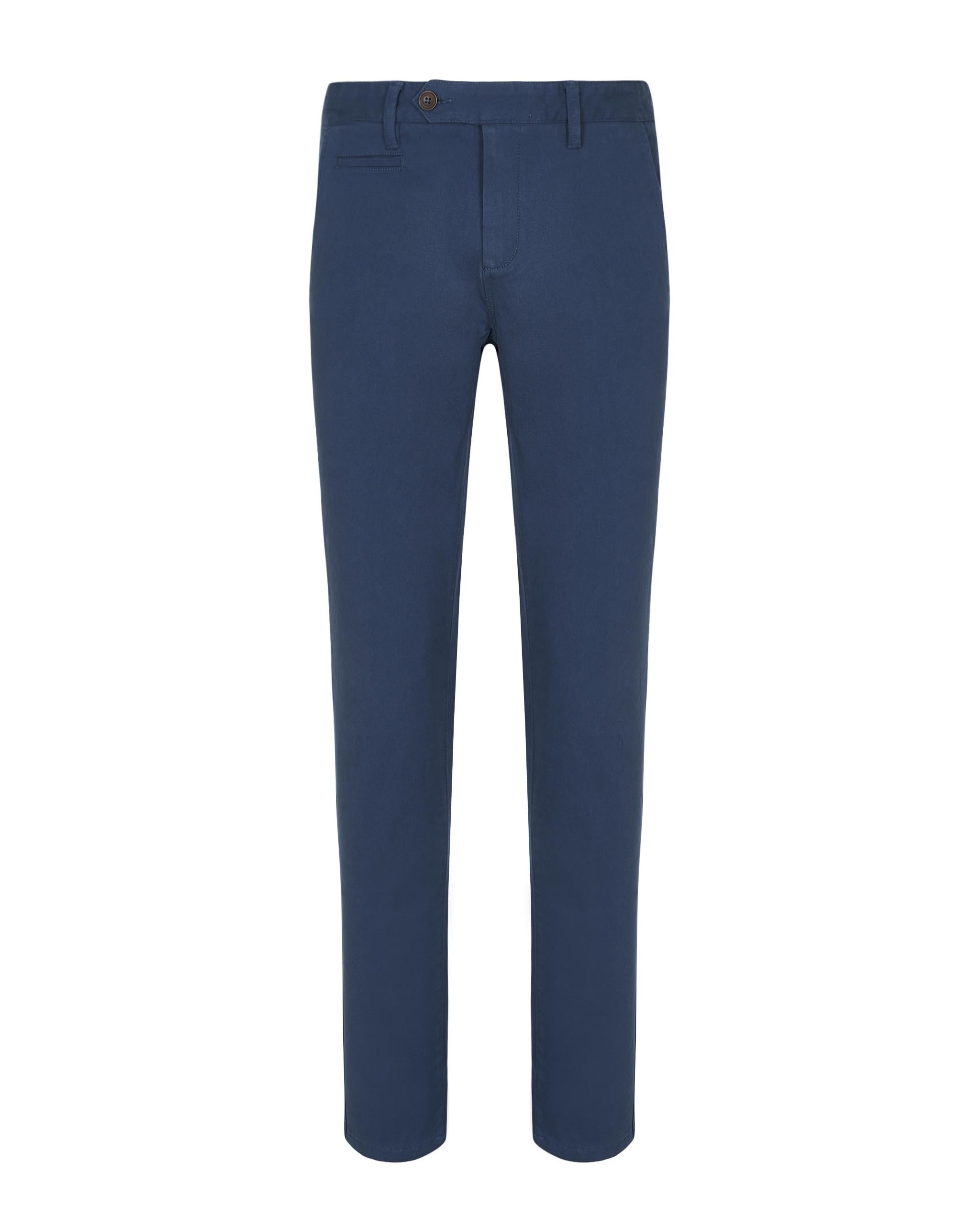 CHINOS IN TWILL BLUE