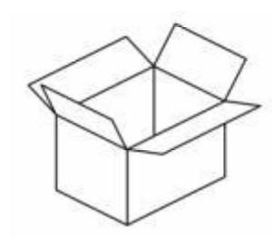 all'interno di una scatola qualsiasi